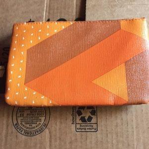 IPSY Tetris Glam Bag Pouch Orange Makeup Bag
